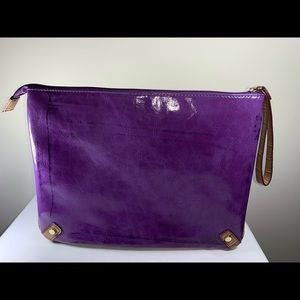 Handbags - Purple Clutch w/Wristlet